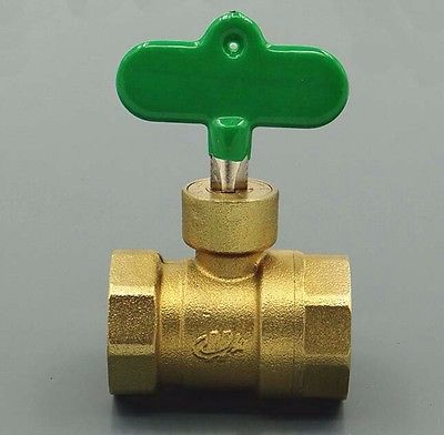 Brass Ball Valve Locking With Key PN 1.6 Mpa 229 PSI For Water Gas Oil Equal Female Thread 3/4