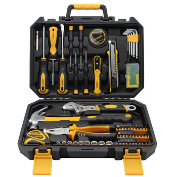 LISM 120 PCS Tools Set Household Hardware Hand Tools Woodworking tools  Electric drill  Wrench Screwdriver Knife