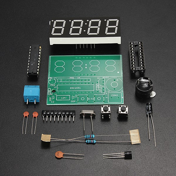 Hot Selling Smart Electronics 1set Digital Electronic Electronic Clocks Production Suit DIY Kits