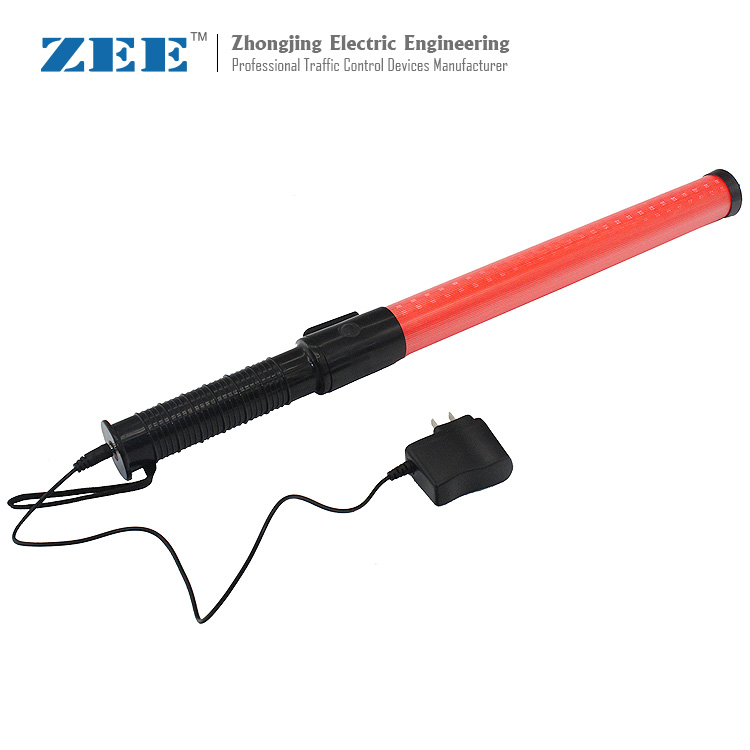 Chargable Traffic Baton LED Traffic Baton Safety Signal Warning Flashing At Night Wand Baton By Hand Police Ref Baton 540mm
