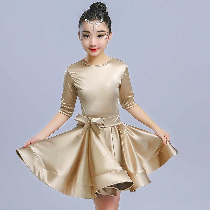 Las niñas vestidos Danza Latina ropa de verano de los niños moderno Tango Salsa falda moda de etapa práctica vestido