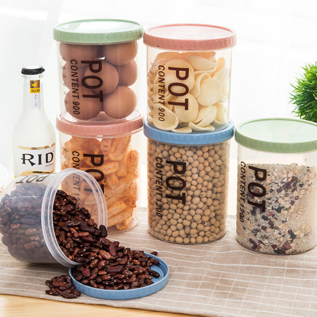 popular kitchen food storage canisters buy cheap kitchen food hipsteen food storage box environmental simple style sealed pp canisters household kitchen sealed crisper grains tank