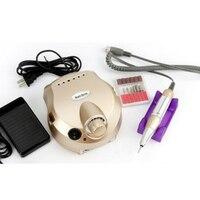 220 V 35000 RPM Nagel Bohrmaschine Variabler Geschwindigkeit Elektrische Pediküre für Acryl Gel Nägel Griff Maniküre Werkzeuge Set