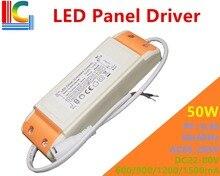 цена на 50W LED Panel light driver adapter AC85-265V Power supply 600mA 900mA 1200mA 1500mA Isolation Lighting Transformer Freeshipping