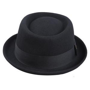 Image 2 - Sedancasesa 100% オーストラリアウール男性の fedora 帽子豚肉パイ帽子古典的な教会ウール 2020 ハットフェルト新秋冬