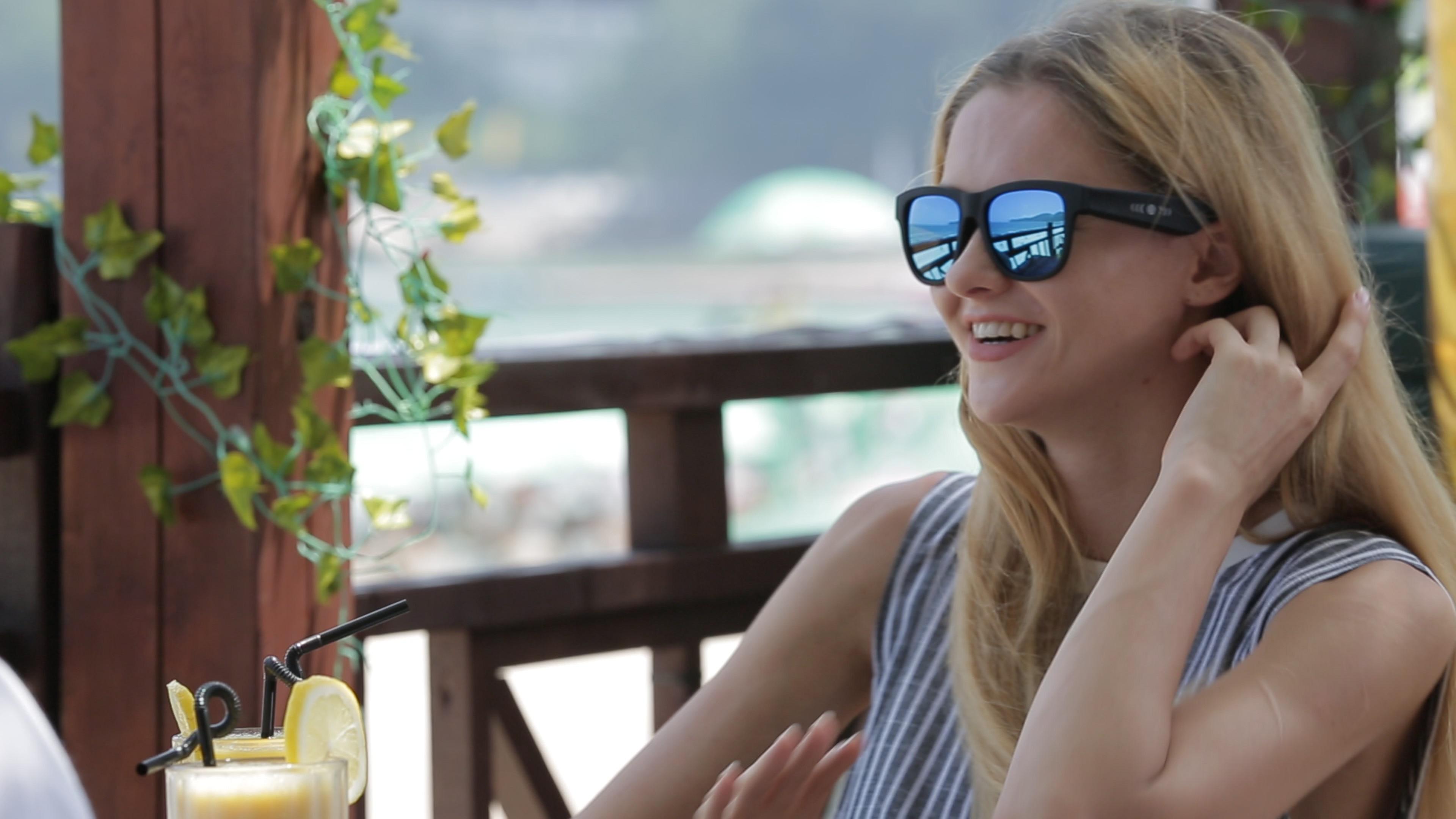 blue Bone conduction beats sunglasses