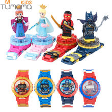 Super Hero Watch Building blocks Ninjagoed Marveling Avengers Figures Bricks Toys Compatible with Legoed Minecrafted Block Watch(China)