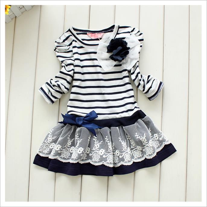Girl Princess Dress 2016 New Fashion Brand Children Girls Dress Hot Saling Baby Kids Clothing Set