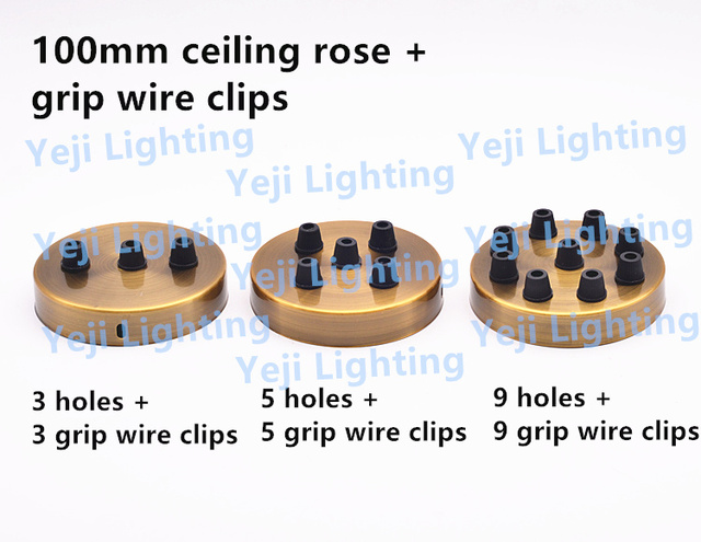 Multi decke rose mit kabel draht grip anhänger licht baldachin ...