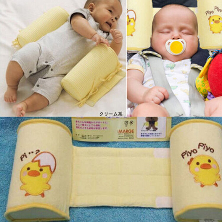 Baby Pillows Infant Newborn Sleep Positioner Prevent Flat Head Shape Anti Roll Pillow Cartoon Little Chick Pillows