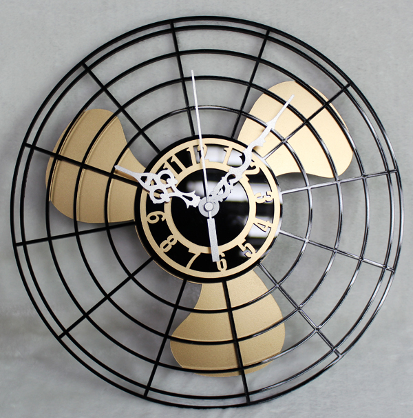 antique electric fan wall clock wall clock vintage personality fashion chinese style wall clock. Black Bedroom Furniture Sets. Home Design Ideas
