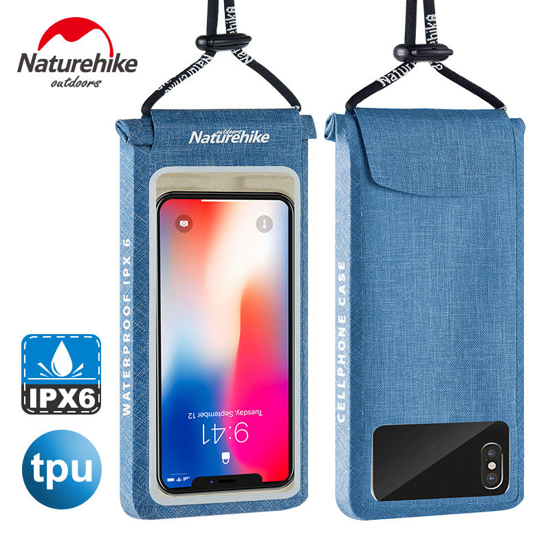 Naturehike TPU Waterproof Universal Phone Bag Lightweight Touch Screen Waterproof Pouch Cell Phones Portable Bag Useful