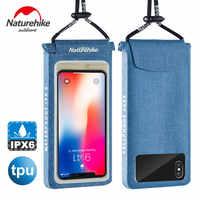 Naturehike TPU Waterproof Universal Phone Bag Lightweight Touch Screen Waterproof Pouch Cell Phones portable bag Useful