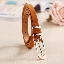 Fashion Skinny Korean version of the classic Female Leather Thin Belt Woman Waistband Girdle Cummerbunds Waist Belts for Women