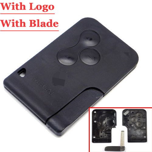 Free shipping(5pcs/lot)Magane Card 3 Button Remote Case with words For Renault megane full set free shipping 3 button remote key case for citroen with va2 blade without battery clamp 10 piece lot