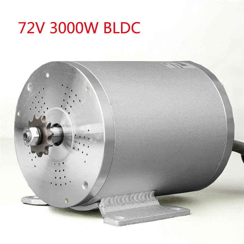 BLDC 72 V 3000 W vélo électrique moteur Brushless pour accessoires de moto vélo électrique Scooter e-car mi moteurs d'entraînement