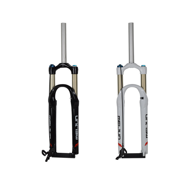 MTB Bike Bicycle 26 inch Fork Wire Control Locked Cycling Gas Front Fork Air Resilience Damping Front Fork Mountain Bike Parts magnesium aluminum alloy bicycle fork mountain air bike front shock 26 27 5