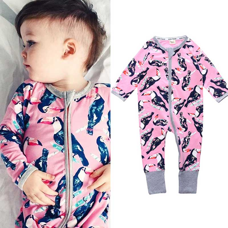 Infant Jumpsuit Long Sleeves Floral Romper Baby Boy Girl Clothes Tiny Cottons New Born Toddler Onesie Overall Outfit Pajamas newborn infant baby tiny cottons funny letter short sleeve bodysuit baby boy girl clothes outfits jumpsuit half wild baby onesie