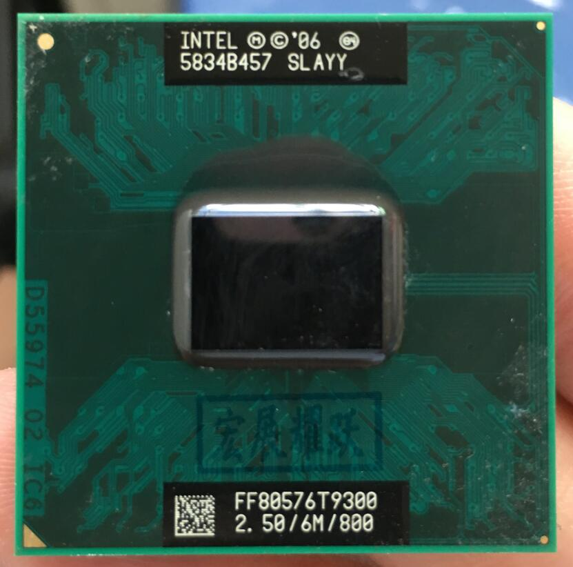 Intel Core 2 Duo T9300 CPU ordenador portátil procesador PGA 478 cpu 100% funciona correctamente