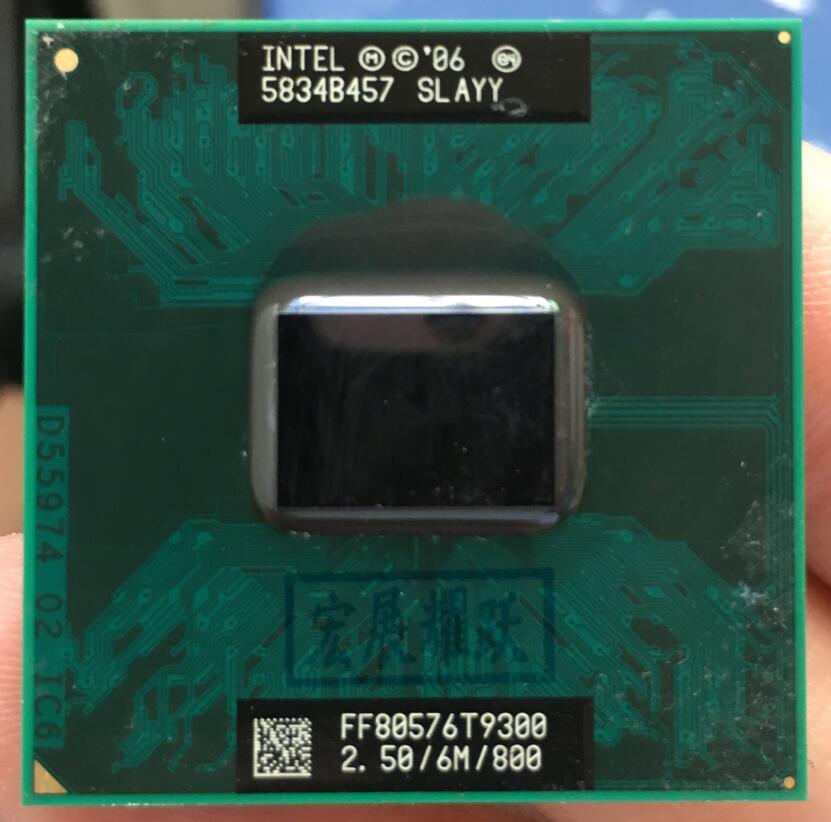 Processeur d'ordinateur portable Intel Core 2 Duo T9300 CPU PGA 478 cpu 100% fonctionnant correctement
