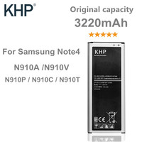 100 Original KHP Battery For Samsung Galaxy Note 4 N910A N910V N910P N910C N910T 3220mAh Built