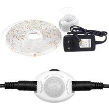 Taśma LED DC 12V 2835 kontroler czujnika ruchu automatyczne włączanie/wyłączanie IP65 wodoodporna elastyczna taśma LED 1M 2M 3M 5 M oświetlenie łóżka czujnika