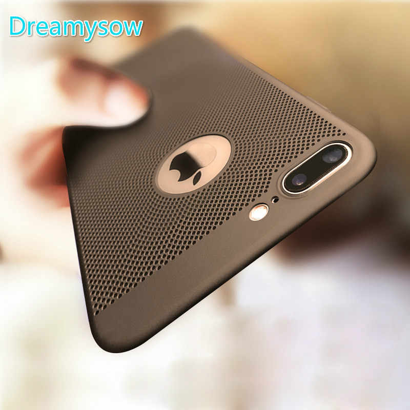 Breathing Phone Cases For iPhone 8 Ultra-thin Cooling Hard Plastic Cover for iPhone X Heat Dissipate for iPhone 7 6 6S Plus Case