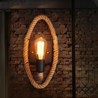 Loft Style Decorative Edison Wall Sconce Hemp Rope Wall Light Fixtures Vintage Industrial Lighting Wall Lamp For Home Lampara