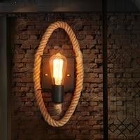 로프트 스타일 장식 에디슨 벽 sconce 대마 로프 벽 전등 홈 lampara 빈티지 산업 조명 벽 램프|wall lamp|light wall lampedison wall sconce -