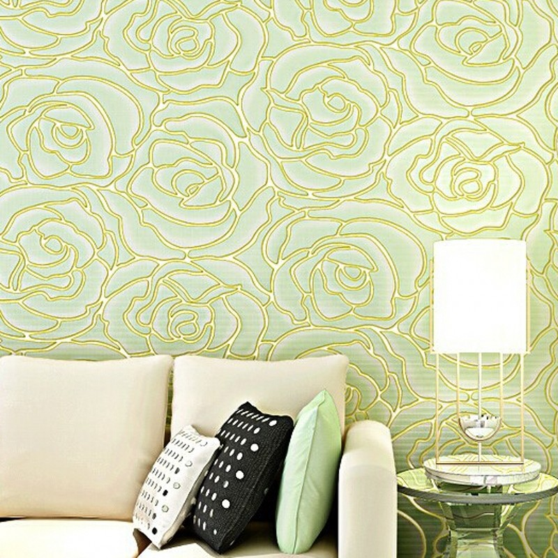 wallpaper 3d Embossed Wallpaper Non-woven Floral Design Wall Covering Modern Minimalist Style Living Room Tv Background Wall Pap simple particle embossed plaid glitter flower wallpaper living room tv background modern wall covering floral wall paper rolls