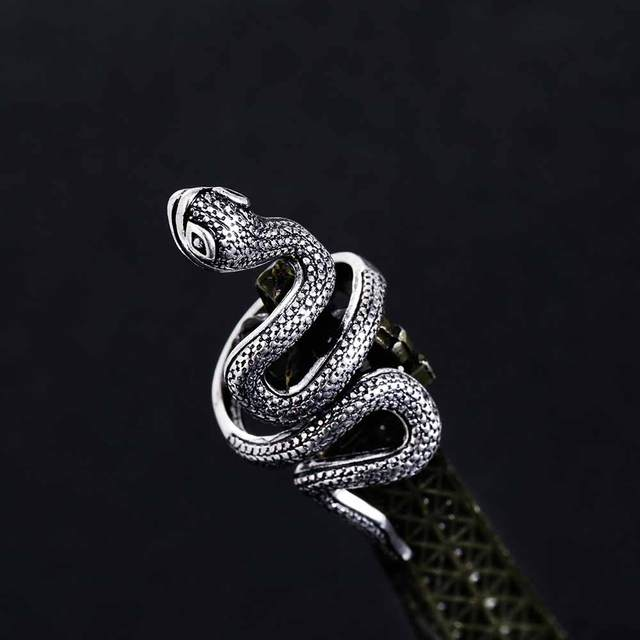 KISSWIFE Fashion Snake Rings For Women Color Black Heavy Metals Punk Rock Ring V