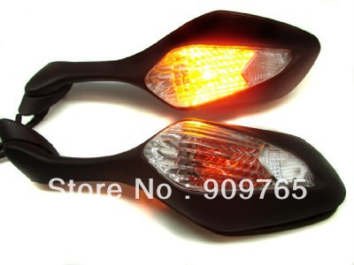 Pair Black Integrated LED Turn Signal Motorcycle Mirrors For Honda CBR1000RR CBR 1000 RR 08-11 2008 2009 2010 2011 utusemi and poetry the ancient ink picture painting books