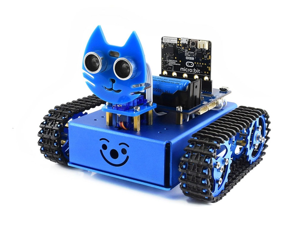 KitiBot starter tracked robot building kit for micro:bit, with controller BBC micro:bit alphabot2 robot building kit for micro bit with controller bbc micro bit