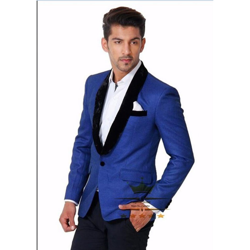Black Men/'s Velvet Wedding Groom Tuxedos Groomsman Best Man Party Prom New Suits
