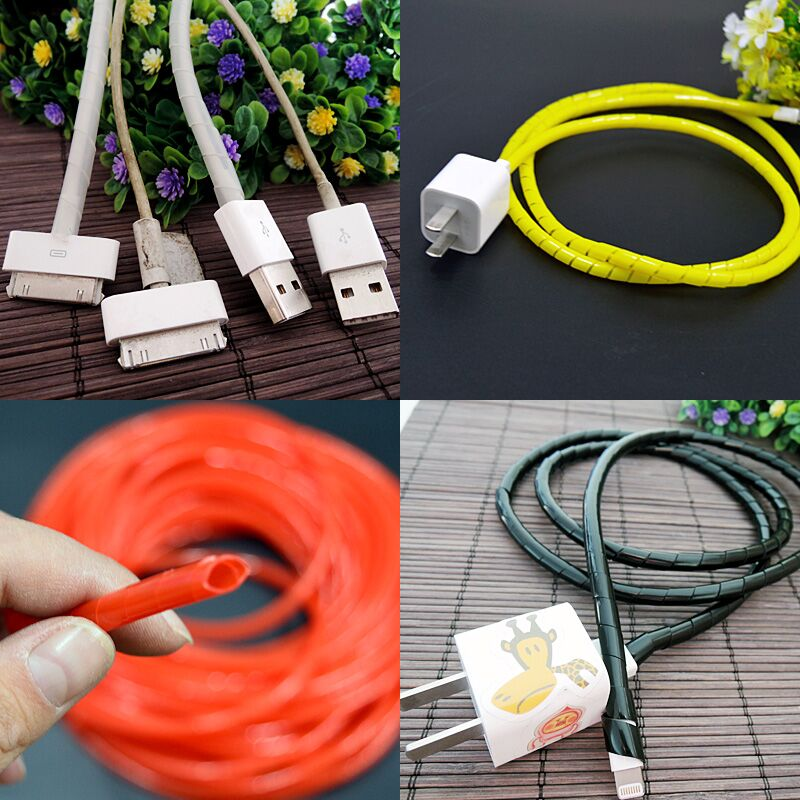 6 mm transparent hose protect 14 meters apply to Mobile phone data line protection circuit winding protection Anti-aging USB6 mm transparent hose protect 14 meters apply to Mobile phone data line protection circuit winding protection Anti-aging USB