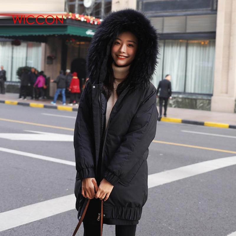 Femme hiver chaud épais nouveau lâche étudiant Long coton manteau Cpace décontracté fourrure Coloar à capuche epaissir Parkas Zipper