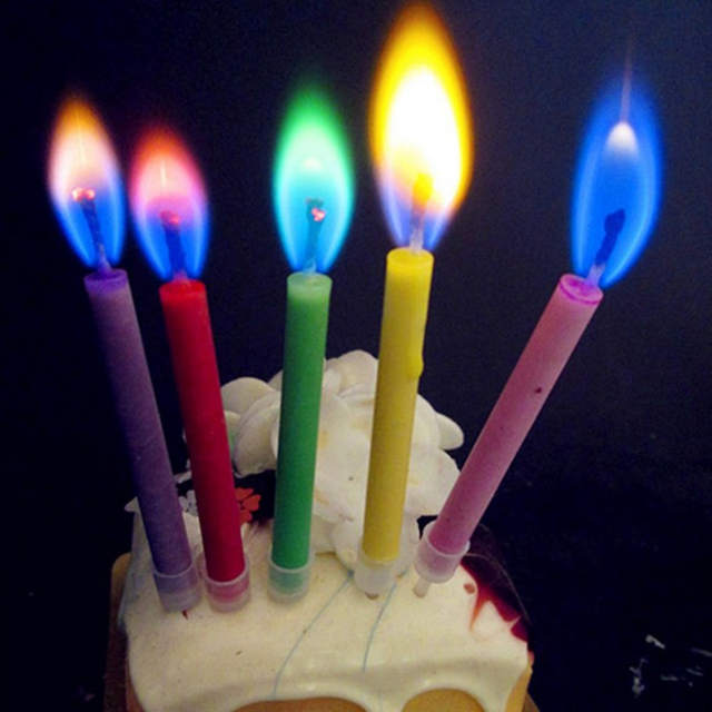 Environmental Protection Colored Safe Flames Birthday Cake Candles For Baby Shower Party Wedding Decoration