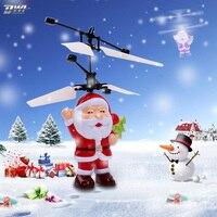 Rcヘリコプターフライングサンタクロースクリスマスギフトquadcopterヘリコプターハンドコントロールrcおもちゃ