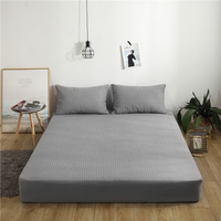 LAGMTA 1 Pc Waterproof Bed Sheet Mattress Cover 100% Cotton Towel Cloth Fabric Fitted Sheet With