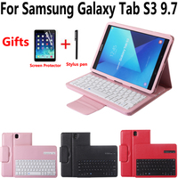 Detach Wireless Bluetooth Keyboard Tablet Case Cover for Samsung Galaxy Tab S3 9.7 SM T820 T820 T825 with Screen Protector Film