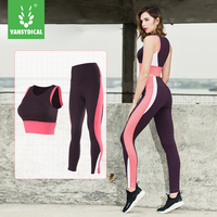 Vansydical Women S Sports Suits Fitness 2pcs Running Yoga Set Sexy Bra Breathable Running Pants Compression