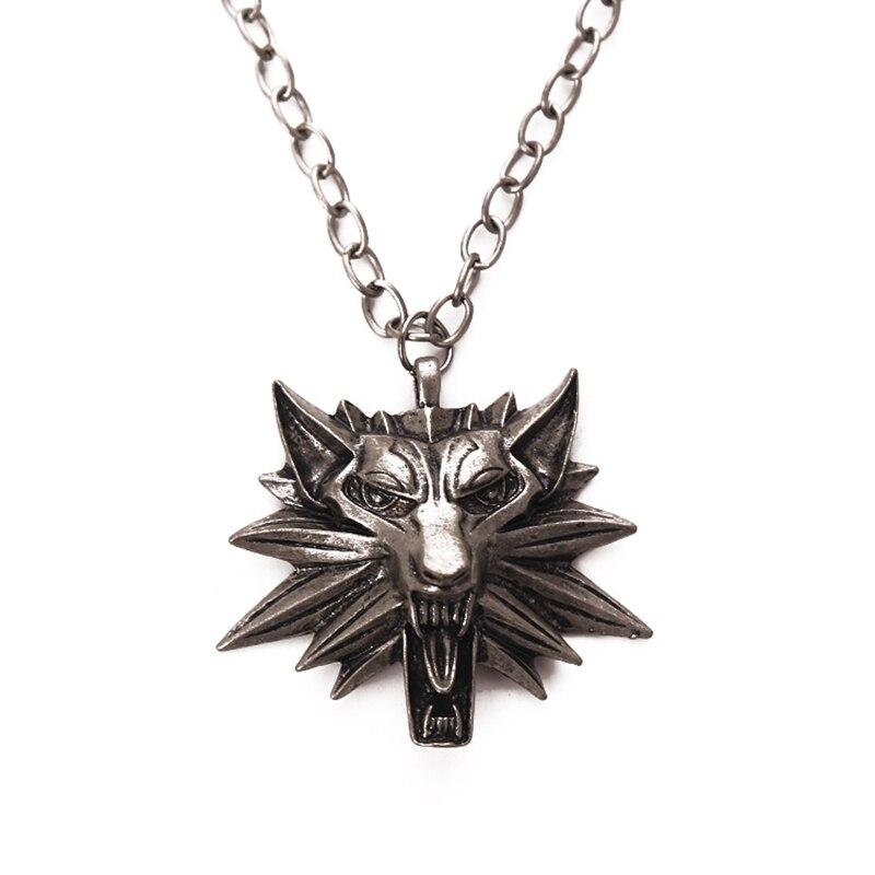 collier homme tete de loup