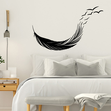 Modern feather Removable Pvc Wall Stickers For Home Decor Decoration Accessories Sticker Living Room