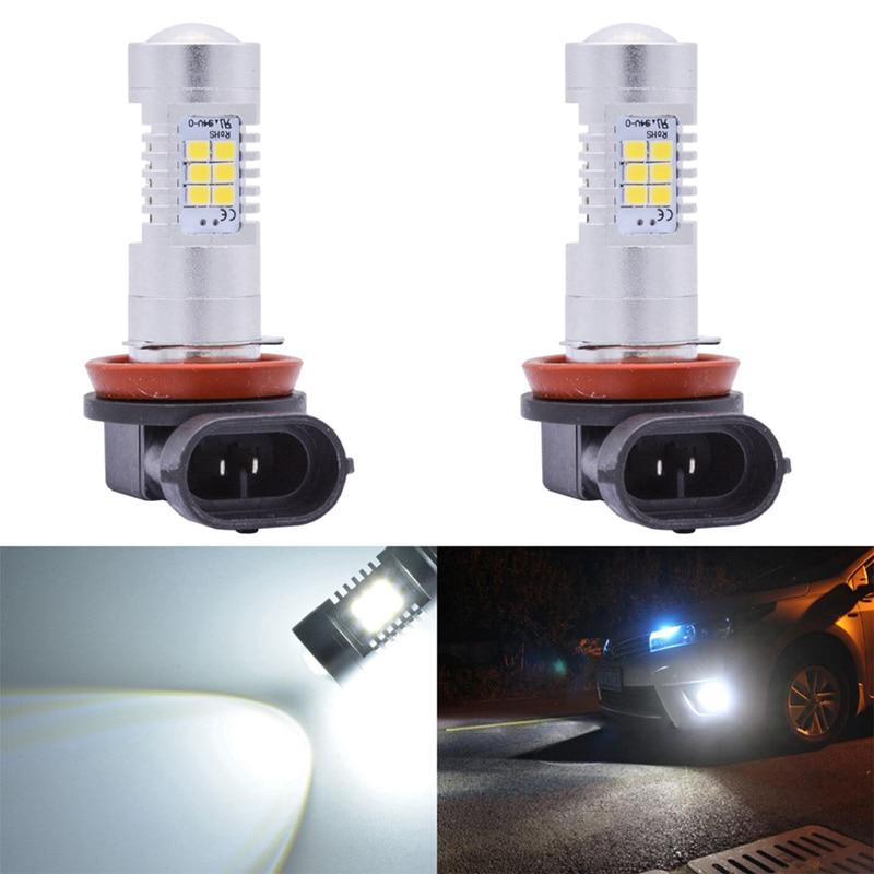 Katur 2x H8 H11 LED Bulbs H7 H10 9145 HB3/9005 HB4/9006 2504 PSX24W 5202 H16 LED Fog Light Bulbs DRL Lamp Bright White 6000K 2 sets 9006 hb4 50w cree 2 led head light h7 h8 h9 h10 h11 9005 hb3 1800lm white 12v 24v truck universal driving fog high bright