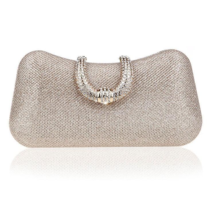 Women Evening Bag Luxury Black/Silver Wedding Party Bag Diamond Rhinestone Clutches Crystal Bling Gold Clutch Bag Purses WY167