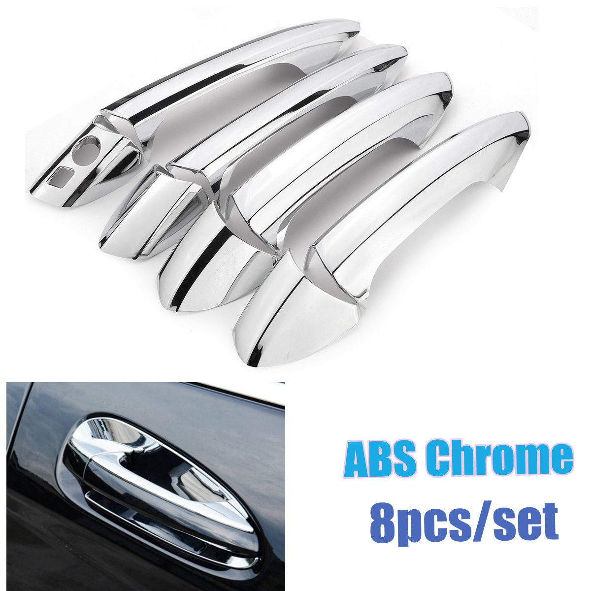 8 Pz Chrome Side Door Handle Copertura Trim Set per Mercedes Benz B/C/E/GLK/ML Class W246 W204 W212 X204 W166 W117