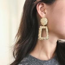 Earrings Geometric Fashion For Women Gold European Design Gift Friend Metal Exaggeration Jewelry