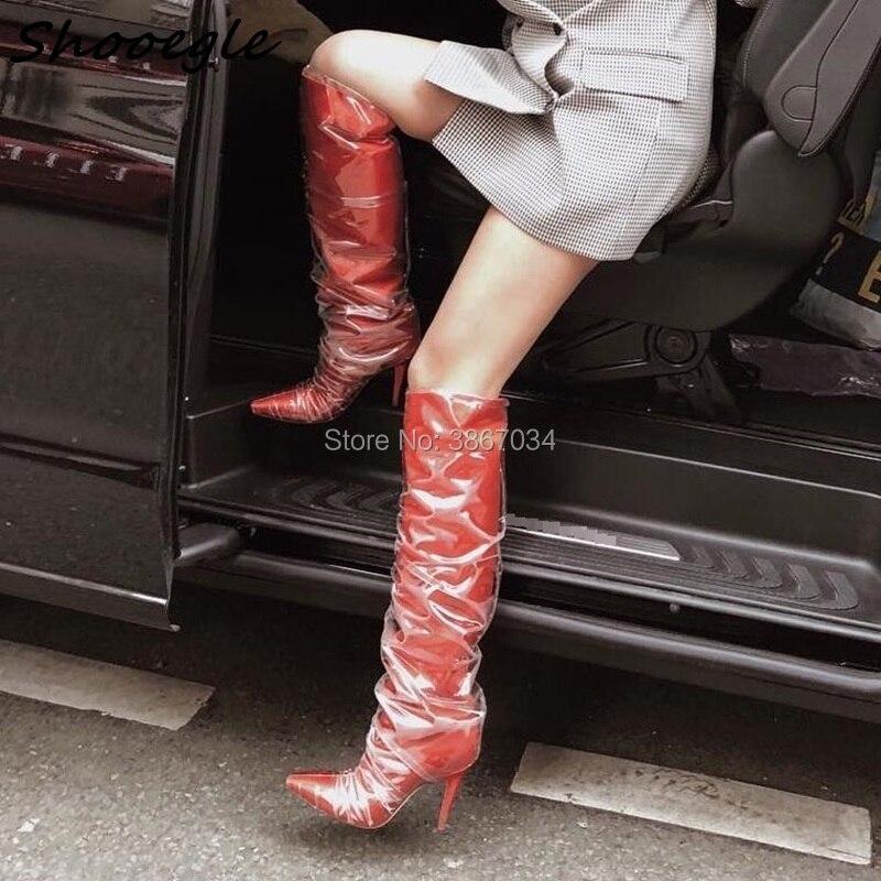 Coverd Mujer Chaussons Point Shooegle Chaussures As Talons Pic Maille Genou Noir Élégant Pic Bottes Botas as Dames Haute Orteils Partie Femmes Printemps rdCthQxsB