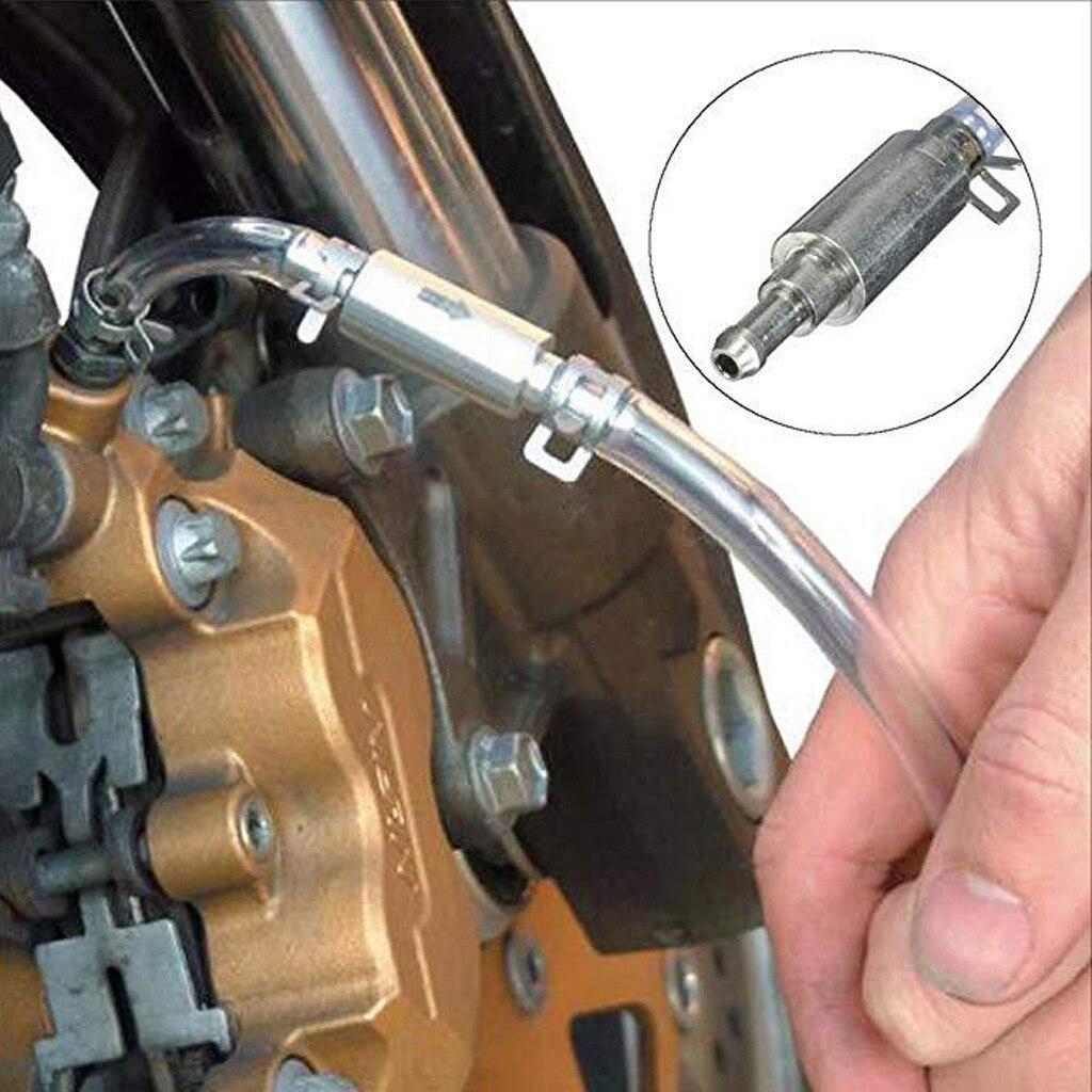 Auto moto Frizione di Spurgo Dei Freni Tubo Tubo Della Valvola Sanguinamento Tool Kit In Alluminio e Gomma in Un Modo Valvola Interna Corpo In Alluminio