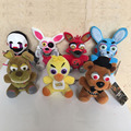 Wholeslae! High quality 5pc/lot Five Nights At Freddy's 4  Freddy Fazbear Bear Doll FNAF Plush Toys  15-18cm